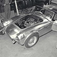 1st Cobra being built, Sante Fe Springs, CA, 1962. First Cobra being built at Dean Moon's shop.