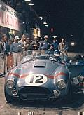 Sebring, FL, 1964. Lew Spencer/Bob Bondurant Cobra makes a night pit stop.