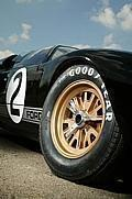 Ford GT40 race car in 1966 Le Mans winning colours