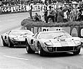 Ford GT Concept HIstory: 24 Hours of LeMans, LeMans, France, 1968. Two Gulf GT40's running together.
